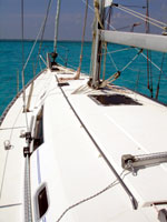 the private sailboat deck