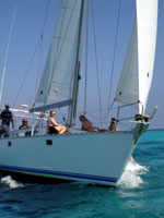 sailing in grand cayman