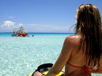 Arriving at Stingray City on a Jetski or Waverunner