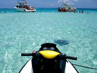 Stingray City Sandbar on a Wave Runner