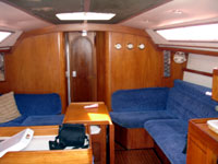 the private sailboat plush interiors